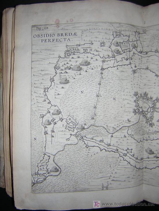Libros antiguos: 1626 - HERMANNUS - OBSIDIO BREDANA ARMIS PHILIPPI IIII - SOBRE LA TOMA DE BREDA - 13 LÁMINAS - FOLIO - Foto 14 - 27456959