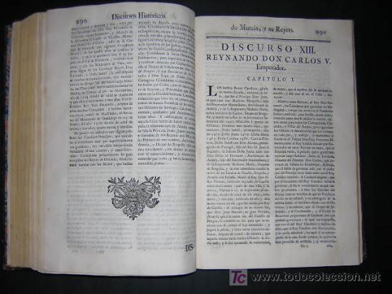 Libros antiguos: 1775 - FRANCISCO CASCALES - DISCURSOS HISTORICOS DE LA MUY NOBLE Y MUY LEAL CIUDAD DE MURCIA - Foto 7 - 26770697