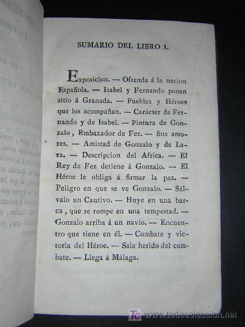 Libros antiguos: 1804 - CABALLERO FLORIAN - GONZALO DE CORDOBA Ó LA CONQUISTA DE GRANADA + HISTORIA DE LOS MOROS - Foto 5 - 26371533