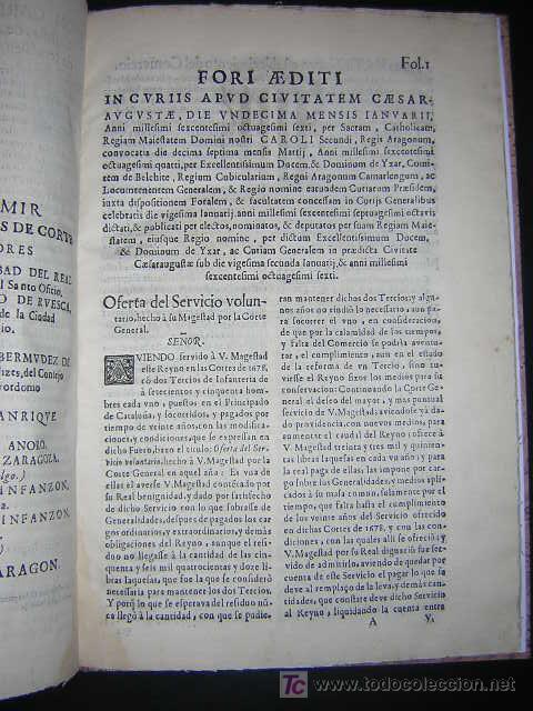 Libros antiguos: 1686 - FUEROS Y ACTOS DE CORTE DEL REYNO DE ARAGON, EN LAS CORTES DE ZARAGOZA DE 1684 - TABACO - Foto 4 - 26271285
