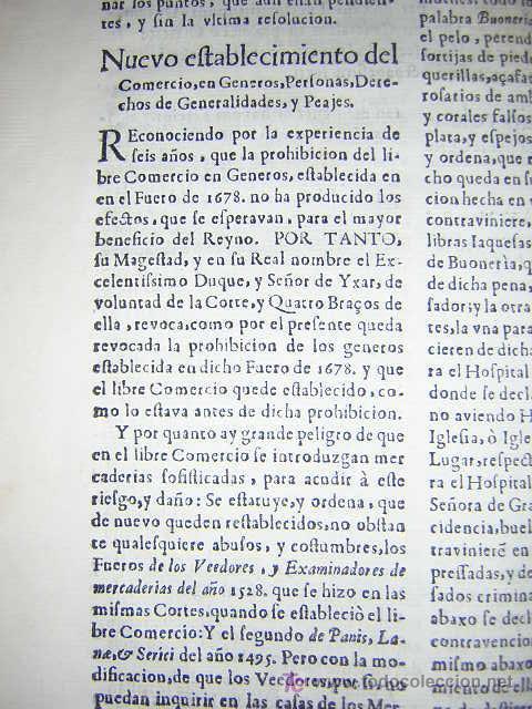 Libros antiguos: 1686 - FUEROS Y ACTOS DE CORTE DEL REYNO DE ARAGON, EN LAS CORTES DE ZARAGOZA DE 1684 - TABACO - Foto 6 - 26271285