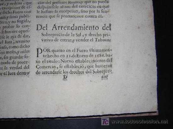 Libros antiguos: 1686 - FUEROS Y ACTOS DE CORTE DEL REYNO DE ARAGON, EN LAS CORTES DE ZARAGOZA DE 1684 - TABACO - Foto 9 - 26271285