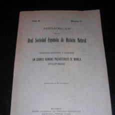 Libros antiguos: FILIPINAS ,UN CRANEO HUMANO PREHISTORICO DE MANILA,DOMINGO SANCHEZ Y SANCHEZ,MEMORIAS DE LA REAL. Lote 149377800