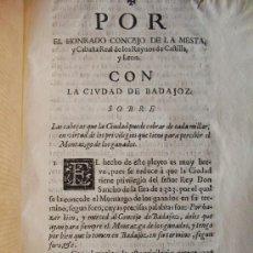 Libros antiguos: 1682 – BADAJOZ. MONTAZGO DE LOS GANADOS.. Lote 26573184