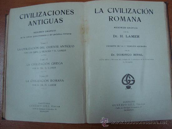 Libros antiguos: CIVILIZACIONES ANTIGUAS. 3 TOMOS EN UN VOLUMEN. GUSTAVO GILI 1924. - Foto 8 - 20619281