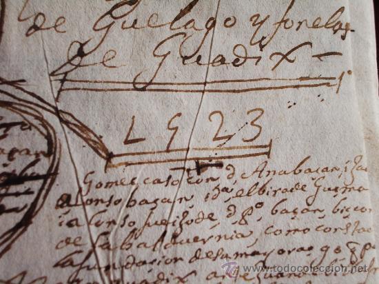 Libros antiguos: 1523- MAYORAZGO Y FAMILIA ARANA.GUADIX, HUÉLAGO, ALCALÁ LA REAL. GRANADA. - Foto 7 - 26988682