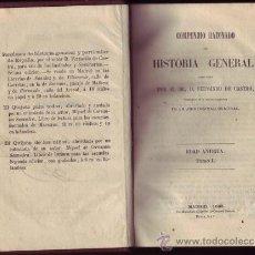 Libros antiguos: COMPENDIO RAZONADO DE HISTORIA GENERAL. TOMO PRIMERO.EDAD ANTIGUA. T-1.. Lote 21176586