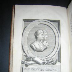 Libros antiguos: 1786 - SALUSTIO EN CASTELLANO - GUERRA DE YUGURTA - LA CONJURACION DE CATILINA - CICERON . Lote 26641844