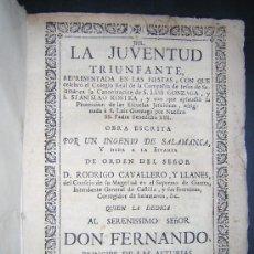 Libros antiguos: 1746 - LA JUVENTUD TRIUNFANTE - JESUITAS, SALAMANCA, POESIA. Lote 27416712