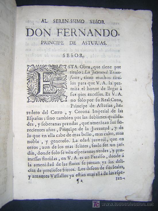 Libros antiguos: 1746 - LA JUVENTUD TRIUNFANTE - JESUITAS, SALAMANCA, POESIA - Foto 4 - 27416712