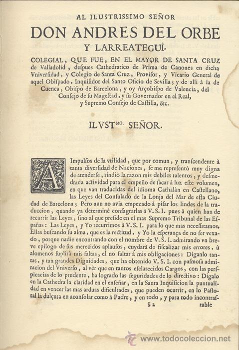 Libros antiguos: CONSULADO del MAR de BARCELONA – Año 1732 - Foto 2 - 27545565