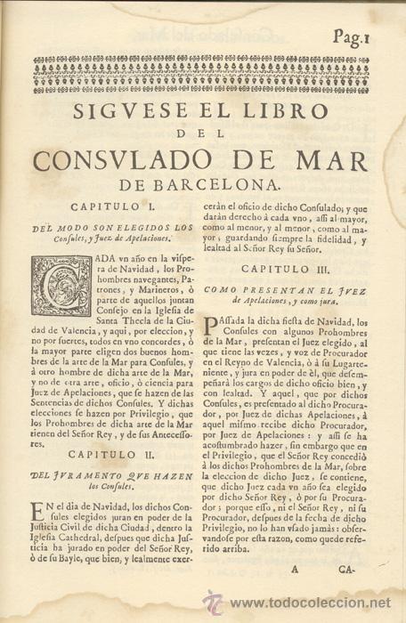 Libros antiguos: CONSULADO del MAR de BARCELONA – Año 1732 - Foto 3 - 27545565