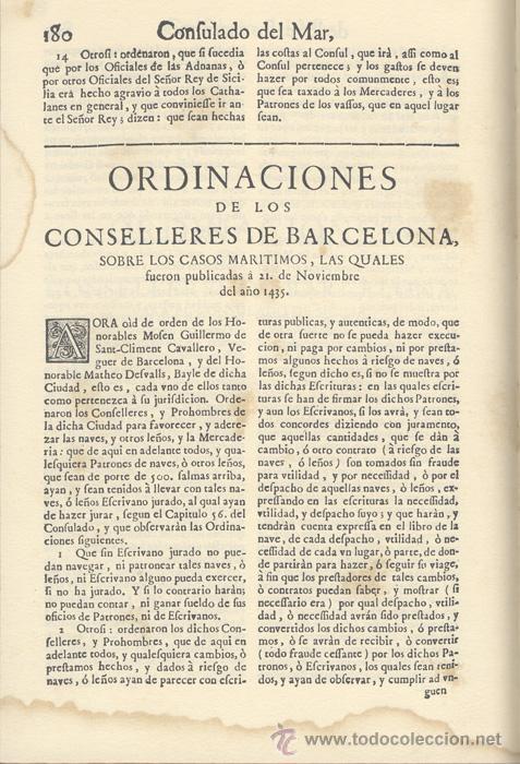 Libros antiguos: CONSULADO del MAR de BARCELONA – Año 1732 - Foto 4 - 27545565