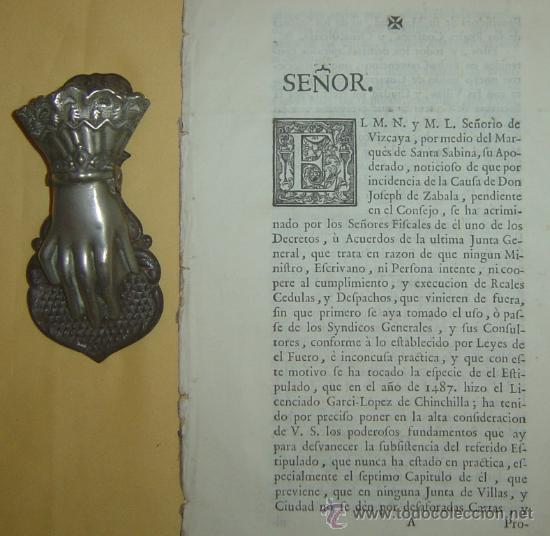 1487-1633 HISTORIA REAL DE VIZCAYA.IMPRESA EN BILBAO.RARÍSIMA.PUEDE PAGARSE A PLAZOS (Libros antiguos (hasta 1936), raros y curiosos - Historia Antigua)