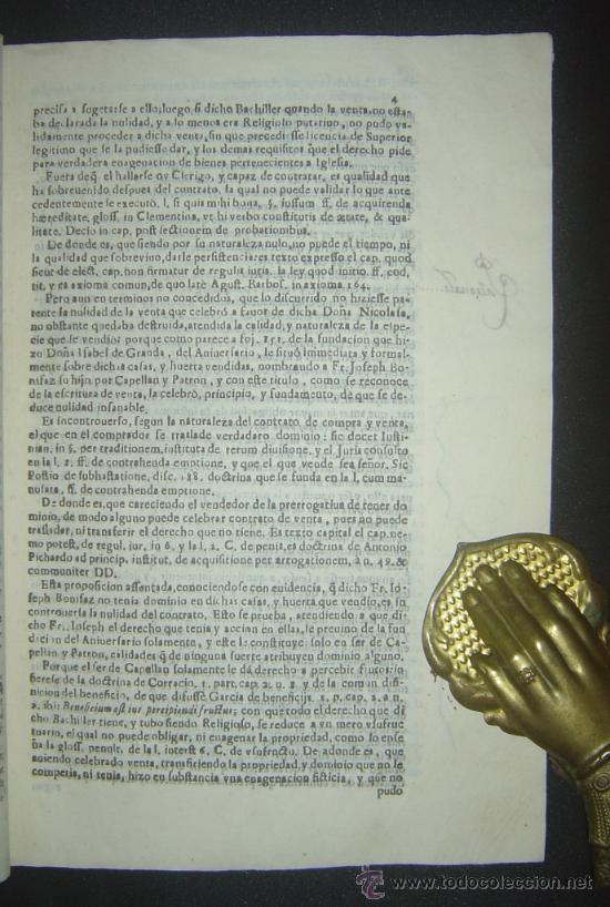 Libros antiguos: 1630-PLEYTO DE TIERRAS,VALENCIA, JERÉZ, JAÉN. MUY RARO.PUEDE PAGARSE A PLAZOS - Foto 6 - 27640966