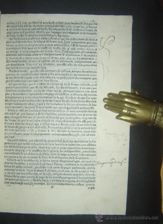 Libros antiguos: 1630-PLEYTO DE TIERRAS,VALENCIA, JERÉZ, JAÉN. MUY RARO.PUEDE PAGARSE A PLAZOS - Foto 9 - 27640966