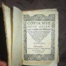 Libros antiguos: 1565-BERLANGA DE DUERO. SORIA. ABSOLUTAMENTE ÚNICO.SE PUEDE PAGAR A PLAZOS. Lote 27574907