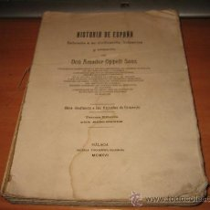 Libros antiguos: HISTORIA DE ESPAÑA REFERENTE A SU CIVILIZACION,INDUSTRIAS Y COMERCIO POR AMADOR OPPELF SANS 1916. Lote 27123655