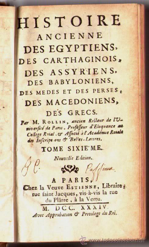 1734: LA VIDA DE ALEJANDRO MAGNO - EL GRANDE HISTORIA, ANTIGUO POR ROLLIN (Libros antiguos (hasta 1936), raros y curiosos - Historia Antigua)