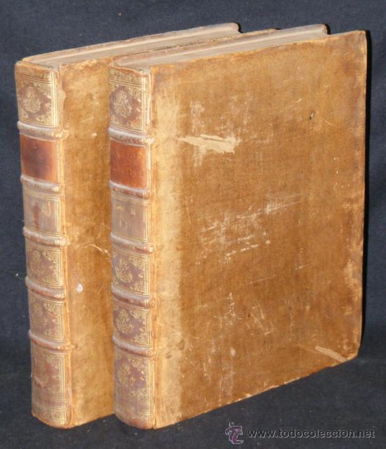 HISTORIA DE ALEJANDRO MAGNO, JUEGO DE 2 GRANDES VOLUMENES, AÑO 1724, EN LATÍN. (25,5 X 20,5 X4,5 CM) (Libros antiguos (hasta 1936), raros y curiosos - Historia Antigua)