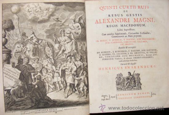 Libros antiguos: HISTORIA DE ALEJANDRO MAGNO, JUEGO DE 2 Grandes VOLUMENES, año 1724, En Latín. (25,5 x 20,5 x4,5 cm) - Foto 3 - 23598302