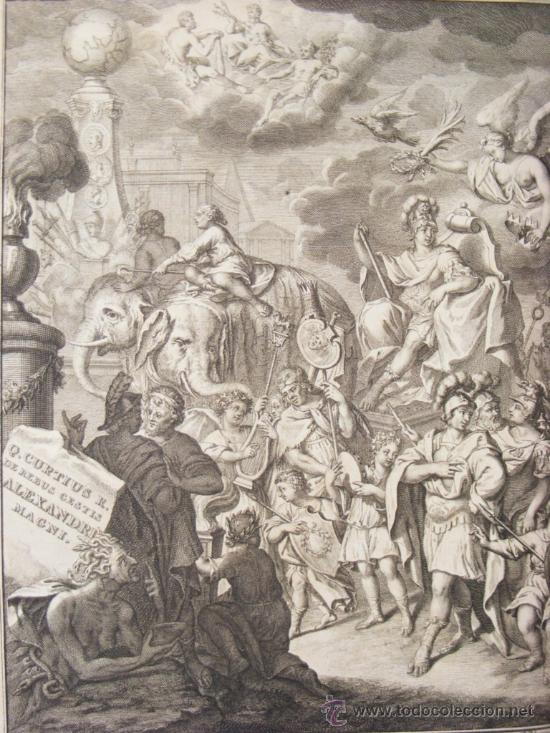 Libros antiguos: HISTORIA DE ALEJANDRO MAGNO, JUEGO DE 2 Grandes VOLUMENES, año 1724, En Latín. (25,5 x 20,5 x4,5 cm) - Foto 4 - 23598302