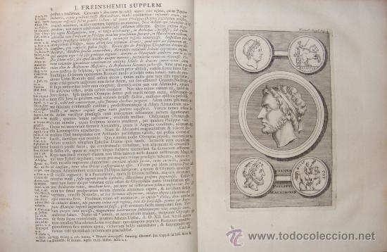 Libros antiguos: HISTORIA DE ALEJANDRO MAGNO, JUEGO DE 2 Grandes VOLUMENES, año 1724, En Latín. (25,5 x 20,5 x4,5 cm) - Foto 5 - 23598302