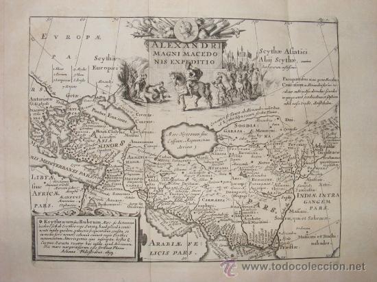 Libros antiguos: HISTORIA DE ALEJANDRO MAGNO, JUEGO DE 2 Grandes VOLUMENES, año 1724, En Latín. (25,5 x 20,5 x4,5 cm) - Foto 6 - 23598302