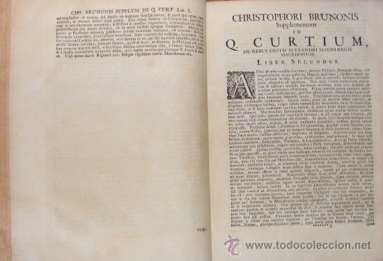 Libros antiguos: HISTORIA DE ALEJANDRO MAGNO, JUEGO DE 2 Grandes VOLUMENES, año 1724, En Latín. (25,5 x 20,5 x4,5 cm) - Foto 7 - 23598302