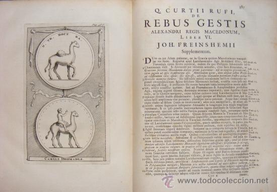 Libros antiguos: HISTORIA DE ALEJANDRO MAGNO, JUEGO DE 2 Grandes VOLUMENES, año 1724, En Latín. (25,5 x 20,5 x4,5 cm) - Foto 9 - 23598302