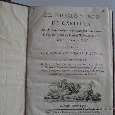 Libros antiguos: EL FUERO VIEJO DE CASTILLA,... 1771.. Lote 24082148