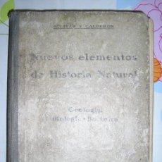 Libros antiguos: NUEVOS ELEMENTOS DE HISTORIA NATURAL. Lote 27037471