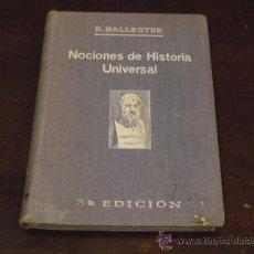Libros antiguos: NOCIONES DE HISTORIA UNIVERSAL - 1932 -. Lote 24661522