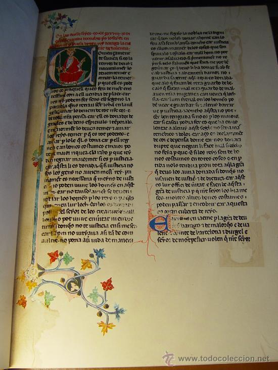 Libros antiguos: ELS FURS. FACSIMIL. VICENT GARCÍA EDITORES. EDICIÓN LUJO NUMERADA. 3 TOMOS. VALENCIA 1976 - Foto 7 - 27187782