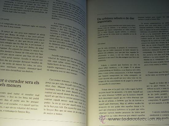 Libros antiguos: ELS FURS. FACSIMIL. VICENT GARCÍA EDITORES. EDICIÓN LUJO NUMERADA. 3 TOMOS. VALENCIA 1976 - Foto 10 - 27187782
