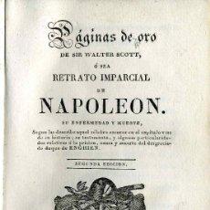 Libros antiguos: RETRATO IMPARCIAL DE NAPOLEÓN - 1829. Lote 25071476