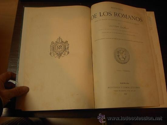 HISTORIA DE LOS ROMANOS, VICTOR DURUY, TOMO I, MONTANER Y SIMON, 1888 (ABUNDANTES GRABADOS) (Libros antiguos (hasta 1936), raros y curiosos - Historia Antigua)