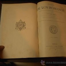 Libros antiguos: HISTORIA DE LOS ROMANOS, VICTOR DURUY, TOMO I, MONTANER Y SIMON, 1888 (ABUNDANTES GRABADOS). Lote 25101907