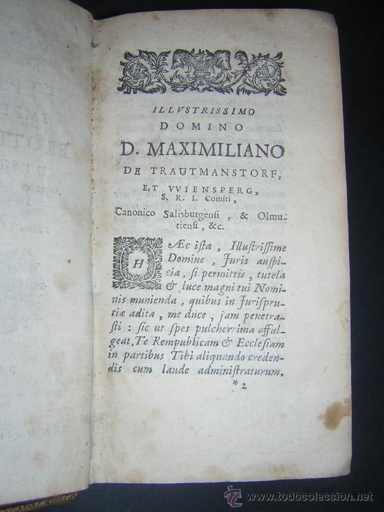 Libros antiguos: 1689 - ANTONIO PEREZ - INSTITUTIONES IMPERIALES - Foto 3 - 25953543