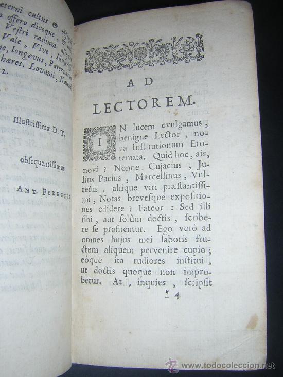Libros antiguos: 1689 - ANTONIO PEREZ - INSTITUTIONES IMPERIALES - Foto 4 - 25953543