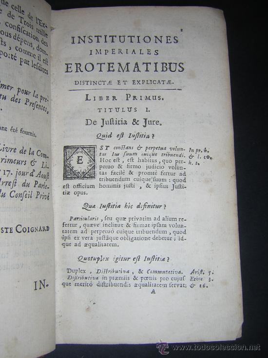 Libros antiguos: 1689 - ANTONIO PEREZ - INSTITUTIONES IMPERIALES - Foto 5 - 25953543