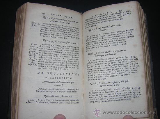 Libros antiguos: 1689 - ANTONIO PEREZ - INSTITUTIONES IMPERIALES - Foto 6 - 25953543
