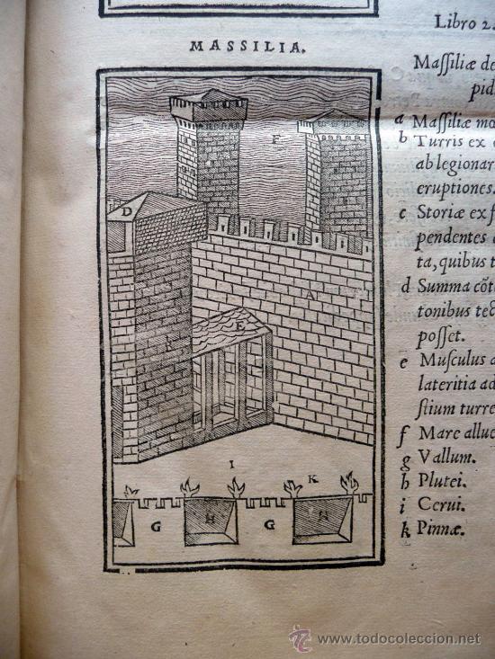 Libros antiguos: CAESARIS RERUM AB SE GESTARUM COMMENTARI - PARIS 1543 - Foto 4 - 30349193