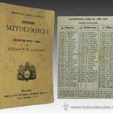 Livres anciens: 1861 - RARO - ALMANAQUE MITOLOGICO DE GRECIA Y ROMA - DIOSES. Lote 27852050
