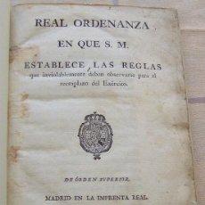 Libros antiguos: AÑO 1800 * MILITARIA * REAL ORDENANZA CARLOS IV PARA REEMPLAZO DEL EJERCITO * 135 PAGINAS. Lote 28624438