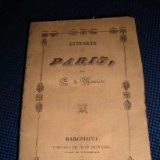 Libros antiguos: (84) HISTORIA DE PARIS. Lote 29230787