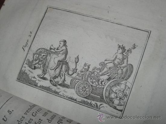 Libros antiguos: Élémens de Mythologie, Bassville, 1789. Posee 38 grabados - Foto 12 - 29356023