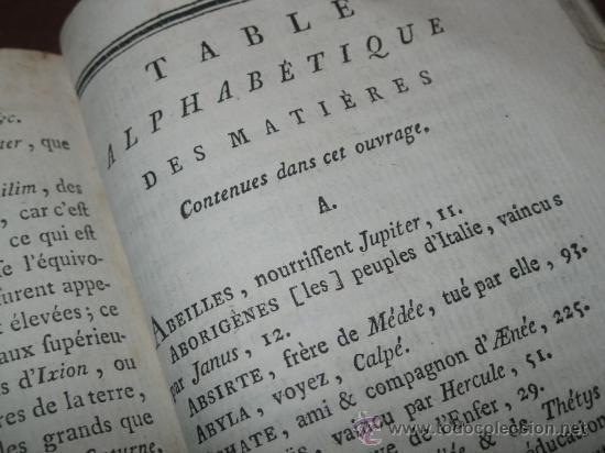 Libros antiguos: Élémens de Mythologie, Bassville, 1789. Posee 38 grabados - Foto 25 - 29356023