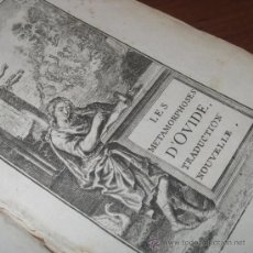 Libros antiguos: LES MÉTAMORPHOSES D'OVIDE (VOL.1), JEAN-BAPTISTE MORVAN, 1701.CONTIENE 109 GRABADOS DE F. ERTINGER. Lote 29553957
