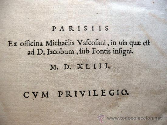 Libros antiguos: CAESARIS RERUM AB SE GESTARUM COMMENTARI - PARIS 1543 - Foto 7 - 30349193